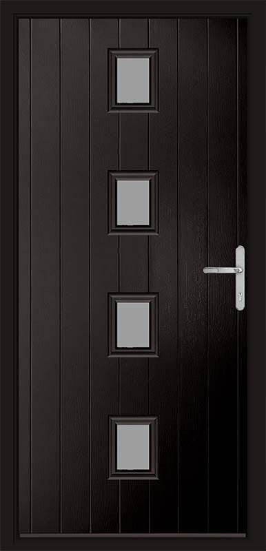 Schwarz Braun Black Urban Collection Composite Door