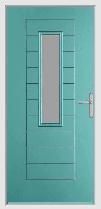 Torquoise Petal Urban Collection Composite Door