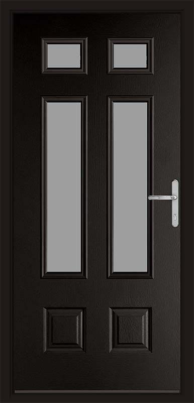 Schwarz Braun Black Classic Collection Composite Door
