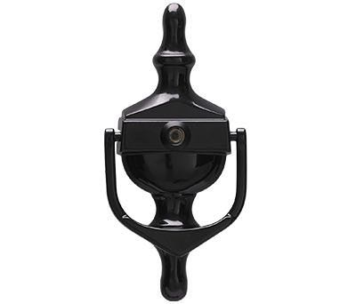 Classic Urn Spy Knocker - Black