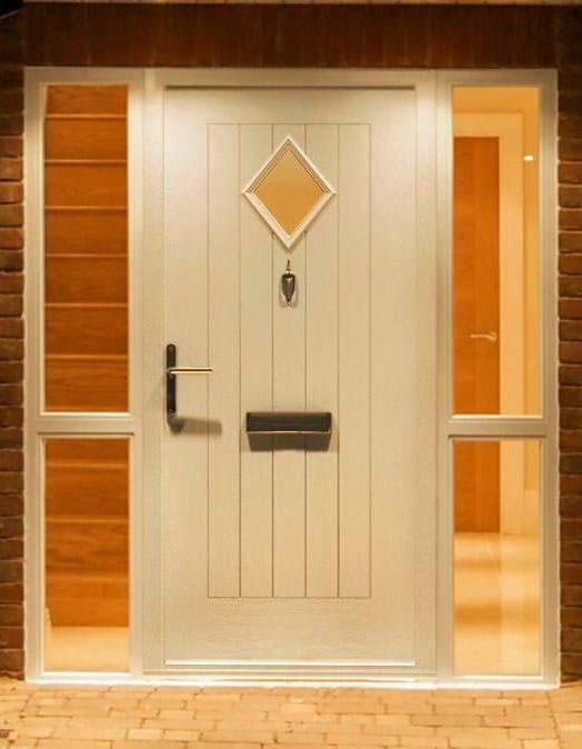 white cleeve composite door