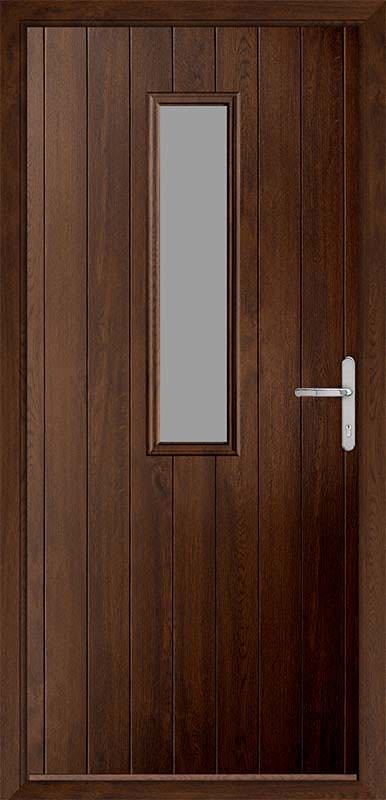 Walnut Country Collection Composite Door