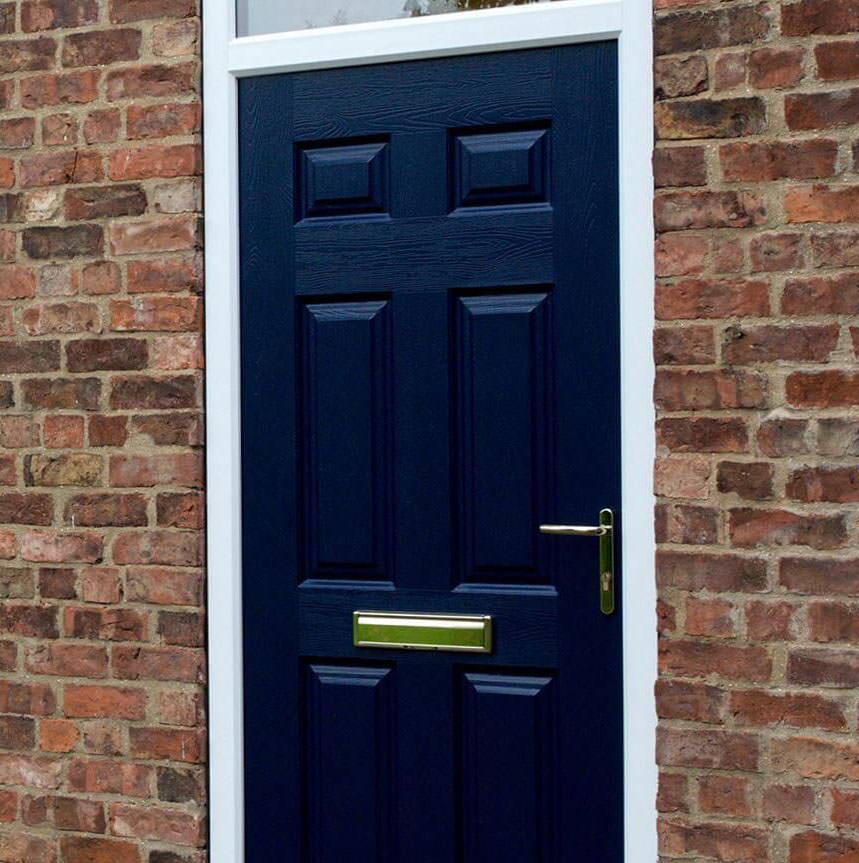 navy blue composite door price
