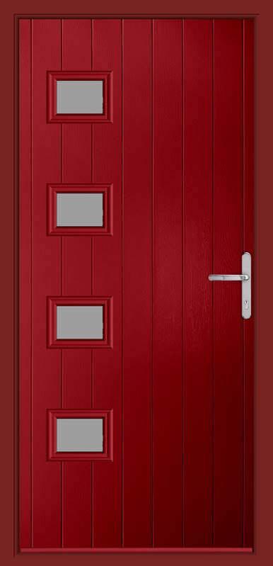 Rich Red Urban Collection Composite Door