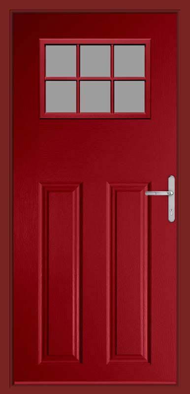 Red Hub Red Composite Door Composite Door
