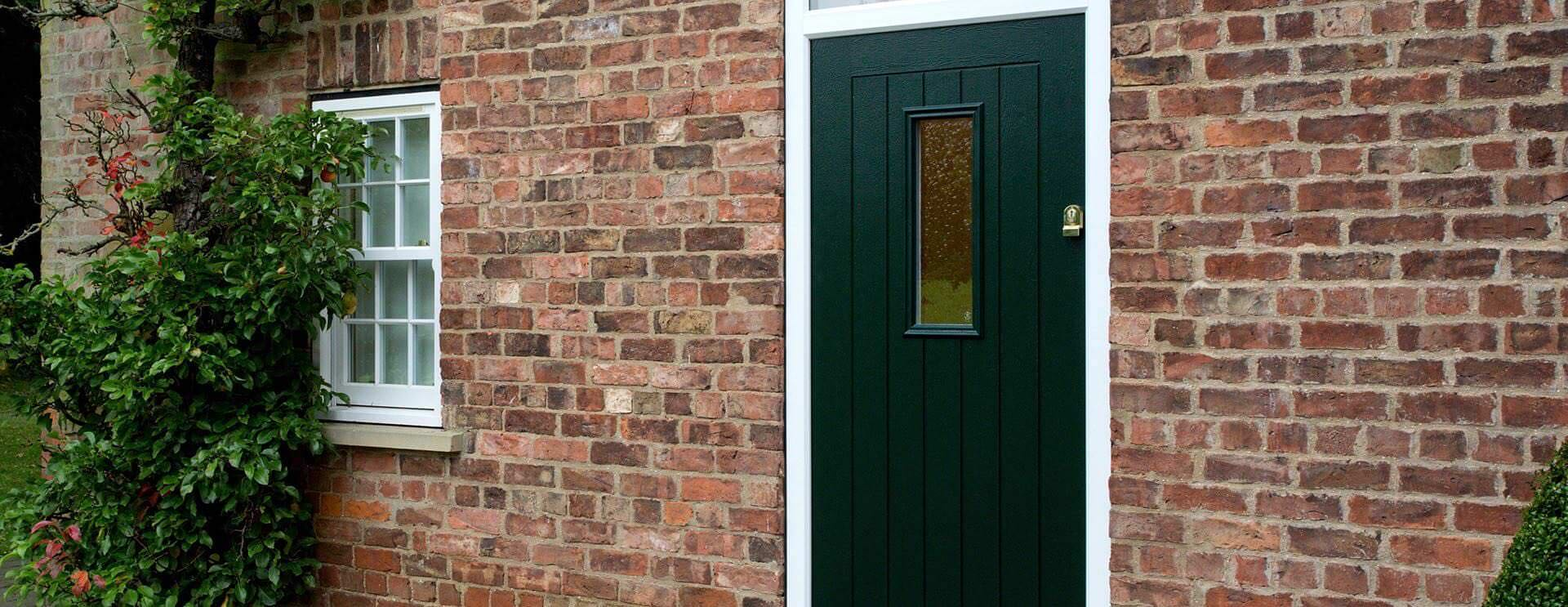 green composite doors
