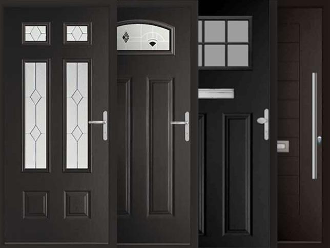 black composite door finishes