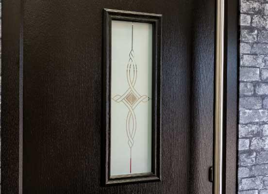 composite door black finish