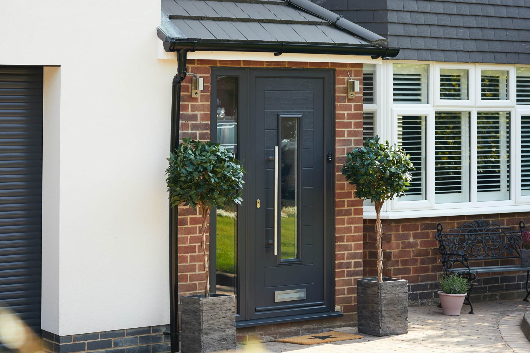 how are composite doors made