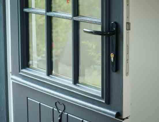 grey front door accessories