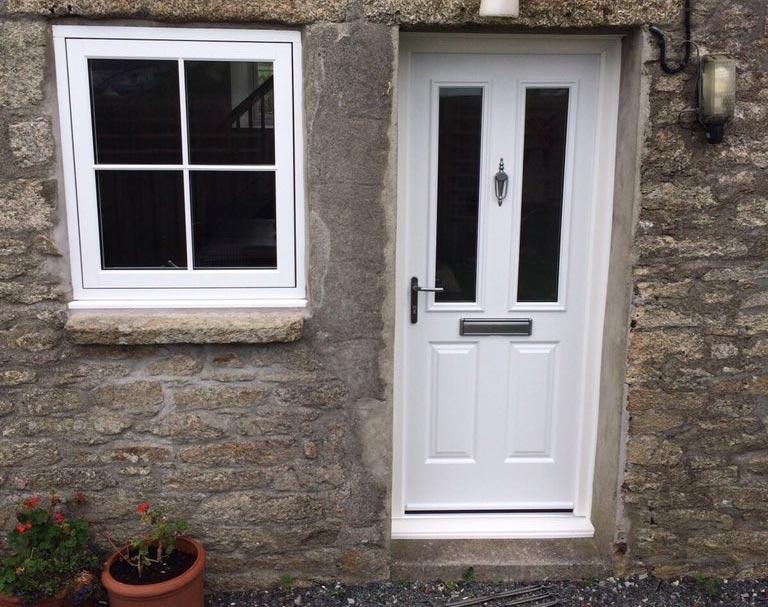 white composite door prices