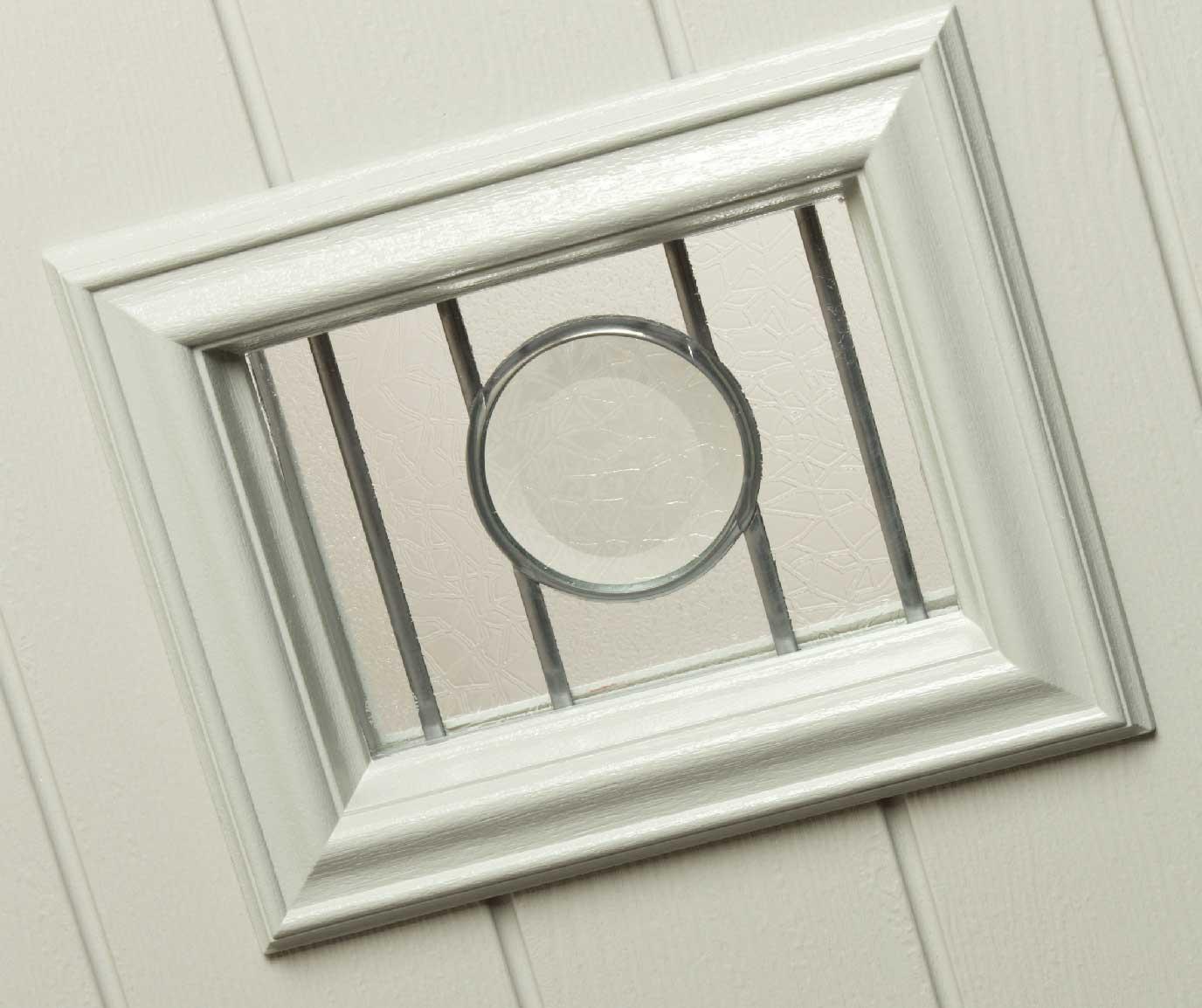 white composite door finish