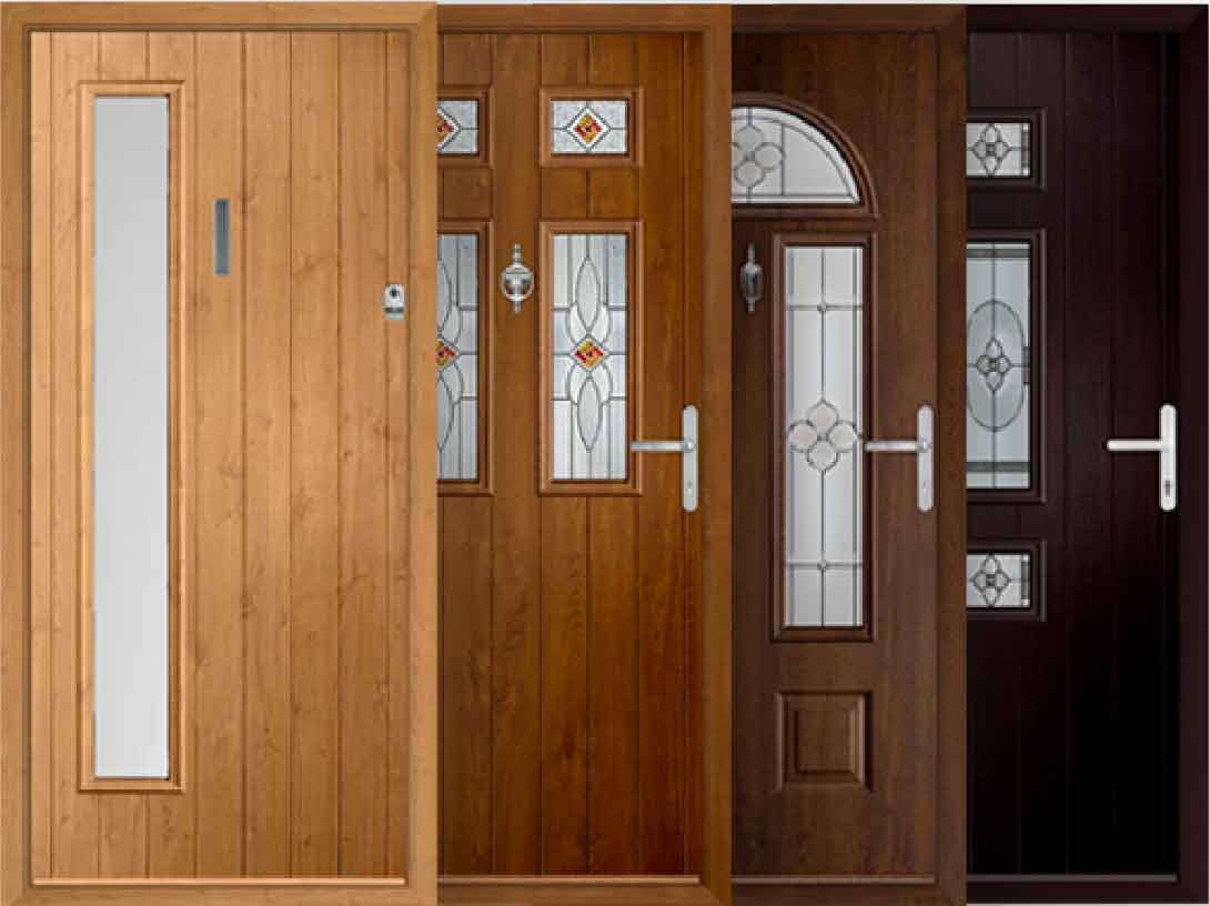 wood effect composite doors